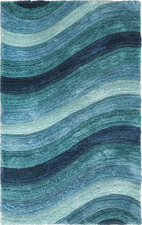 soothing wave rugs beach house decor beach cottage