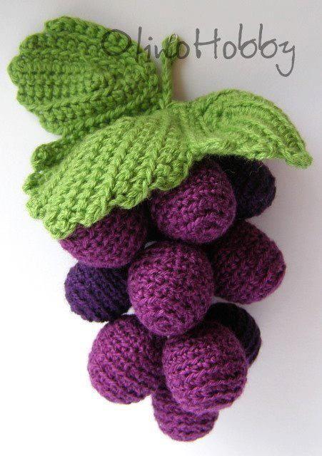 Ideas para el hogar: Tutorial :Racimo de uvas en crochet