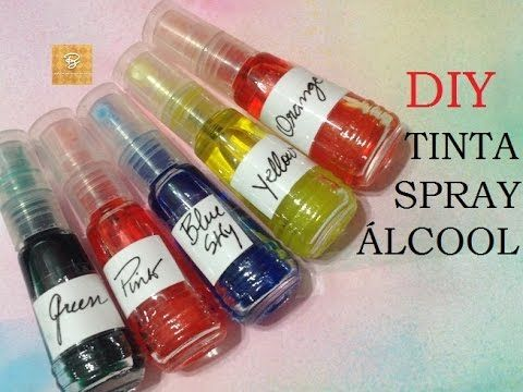 Tinta spray álcool (Indiana), como fazer? - DIY - Estúdio Brigit - YouTube