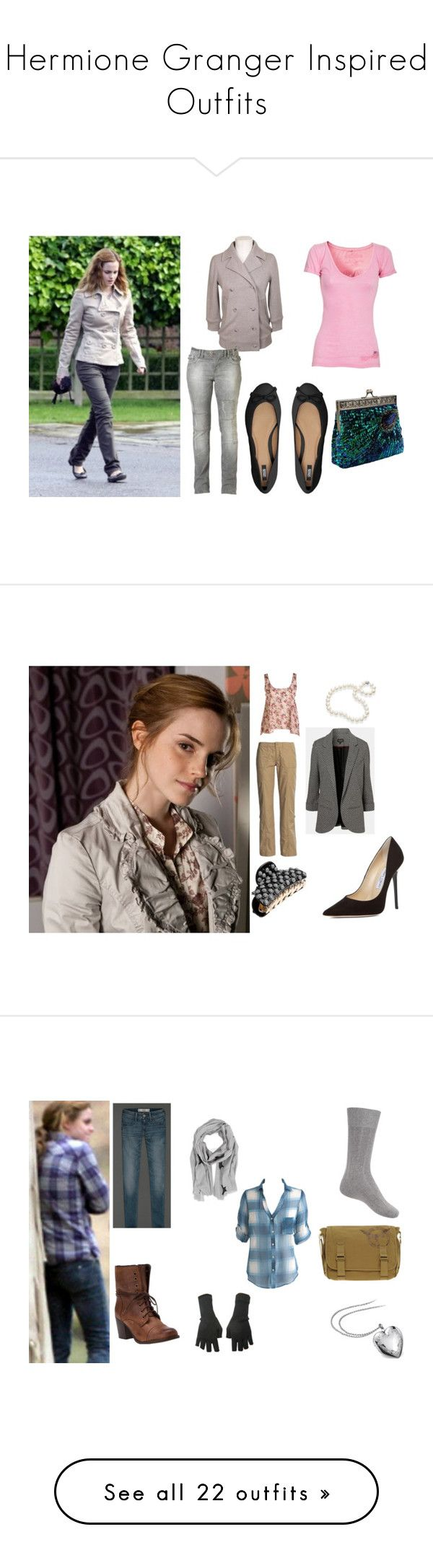 """""""Hermione Granger Inspired Outfits"""" by yellowheads ❤ liked on Polyvore featuring Marc by Marc Jacobs, True Religion, Joe Browns, ASOS, emma watson, deathly hallows, hermione granger, harry potter, Emma Watson and Topshop"""