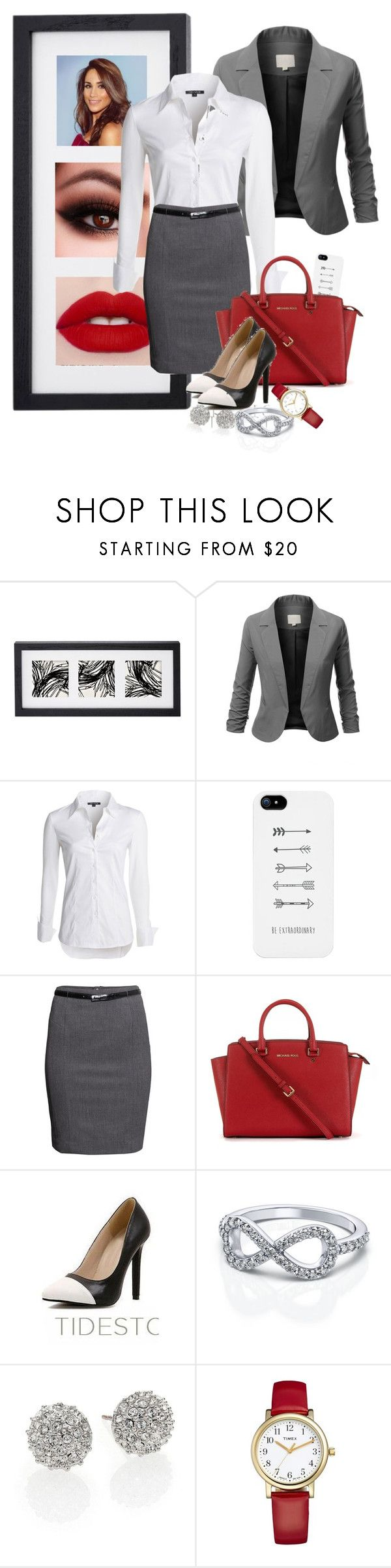 """Suits"" by codestothestars ❤ liked on Polyvore featuring J.TOMSON, NIC+ZOE, LG, H&M, Michael Kors, Kate Spade and Timex"
