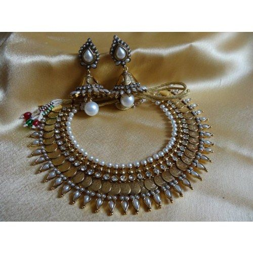 Online Shopping for Kasu Choker | Necklaces | Unique Indian Products by Dhaanya - MDHAA89452213660