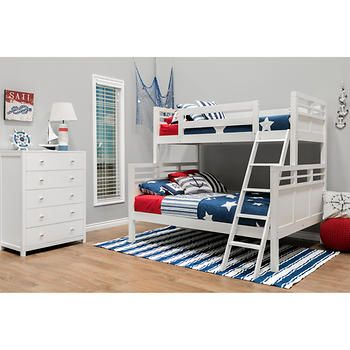 Quinn 2-piece Twin Over Full Bunk Bed Set - White