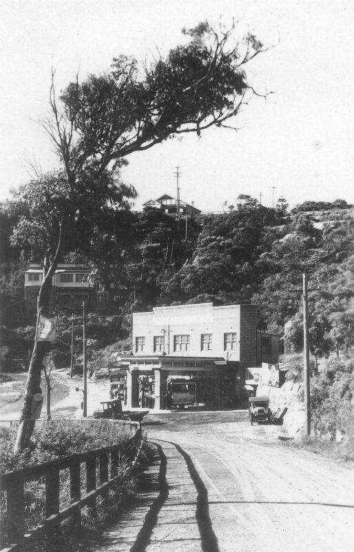 Seaforth Service Station in the Northern Beaches region of Sydney in the late 1920s.  •Manly Library•