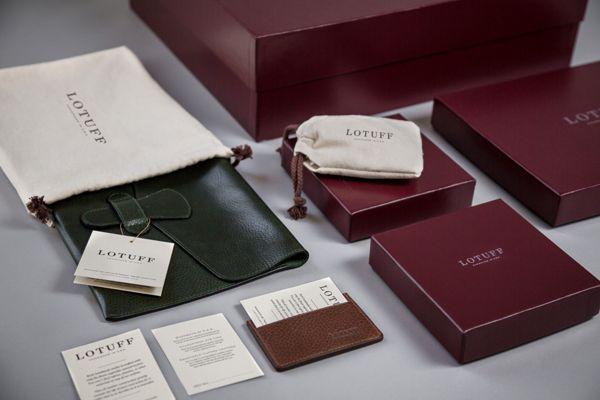 Lotuff Leather by Bluerock Design, via Behance