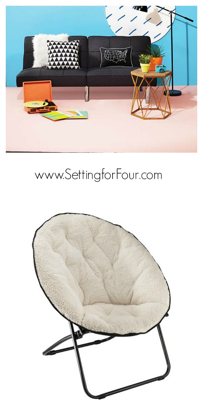 Dorm seating papasan dorm sofa pink college futon - Cool Kids College Furniture Www Settingforfour Com