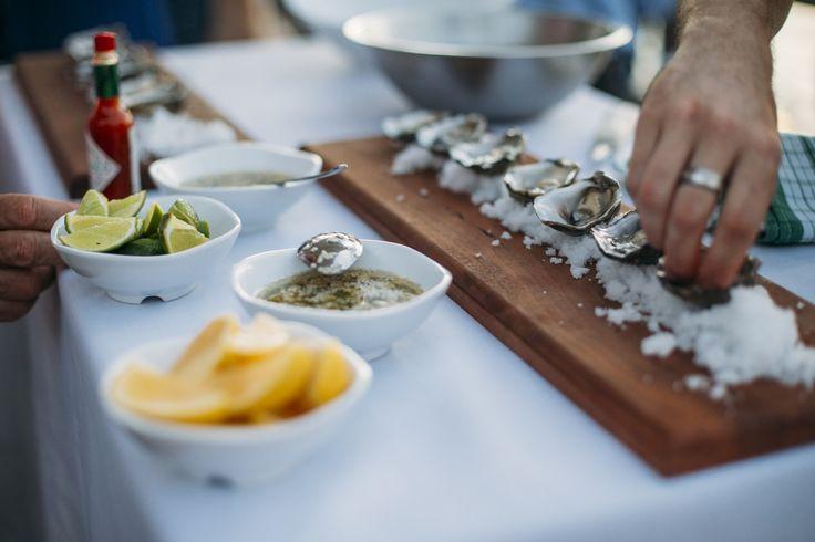 Oysters freshly shucked on the deck by one of our chefs
