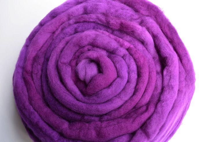 Wool Roving Australian Merino Wool Top felting spinning needle felting weaving carding blending fibre 100g 3.5oz Purple 11797 by feltfibrecraft on Etsy