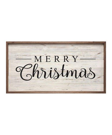 Kendrick Home Whitewashed Merry Christmas Framed Wood Wall Art