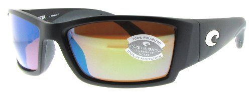 Costa Del Mar Corbina Sunglasses, Black, Green Mirror 580G Lens