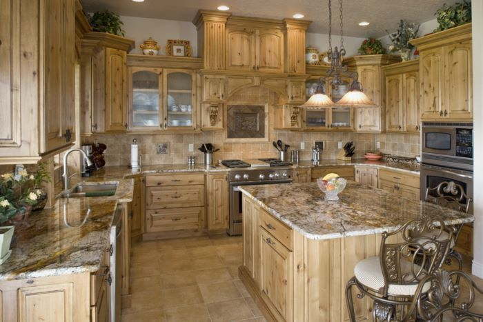 Knotty alder kitchen, Rustic kitchens and Rustic on Pinterest