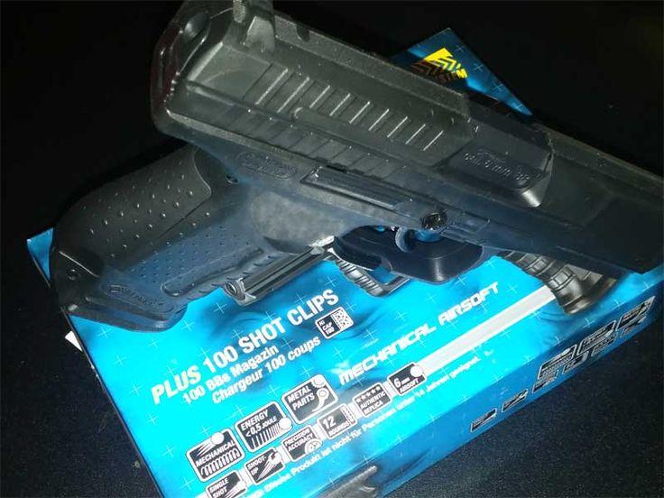 Walther P99 Umarex Ansicht auf Schlagbolzen und Hülsenauswurf