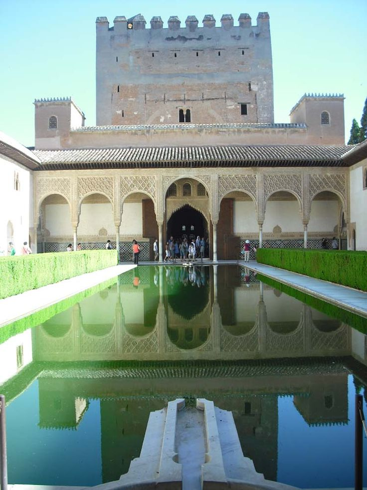 The Court of Myrtles, Alhambra, Spain. One of the hundreds of photos. You can't stop snapping. Beautiful architecture. Plan to visit when the crowds are missing if possible.