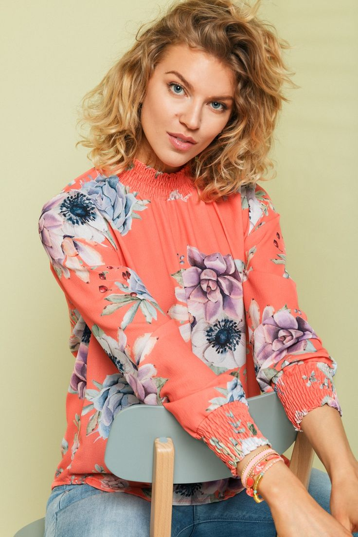 Bluse Juliet Summer Coral fra Floyd by Smith