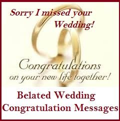 Congratulations Wedding