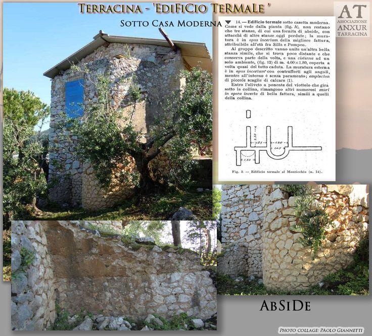 Remains of Roman baths with an apse.  Resti di Edificio Termale.  Rif. bibl. : G. Lugli - 'Forma Italiae . Regio I - Ager Pomptinus - pars prima - Anxur-Tarracina', Roma, 1926, c. 32