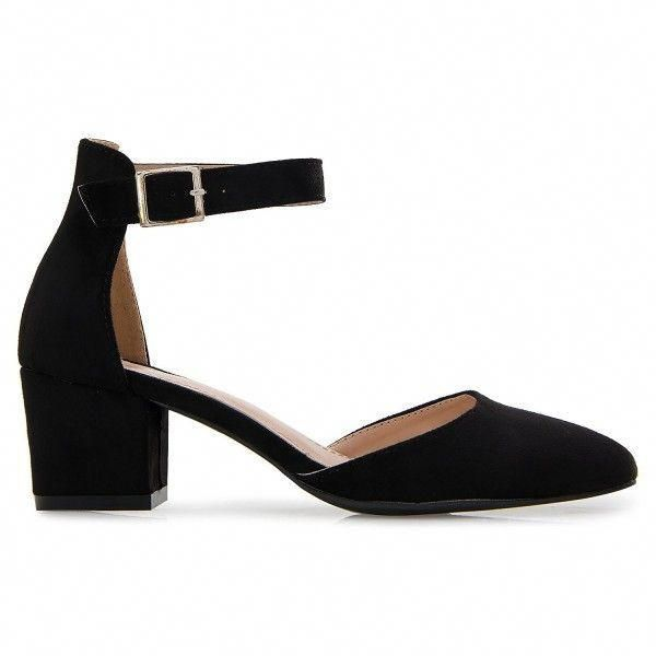 Damenschuhe, Pumps, Damen D'orsay Pumps Close Toe Knöchelriemen Kitten Heel – …   – Ankle straps Heels