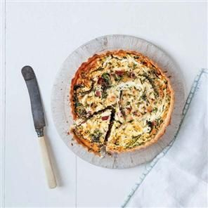 Bacon, leek and cheddar tart recipe. This tart makes the best use of ...