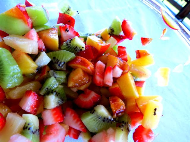 Fruit salsa (omit the cinnamon chips). Thinking of serving with almond flour pancakes for a healthier Brunch!