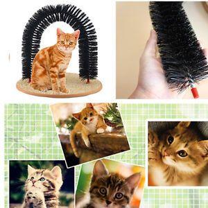 Funny-Pet-Cat-Kitten-Arch-poils-auto-toiletteur-masseur-Scratcher-Catnip Toy-