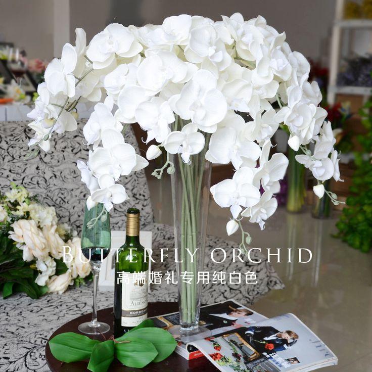 Высококачественный копия Реально один бантики Floriculture венчания посадки расположения цветка цветка обеденного стола цветка украшения комнаты искусственного цветка орхидеи живущий silk - Интернет-магазин Мой ТаоБао