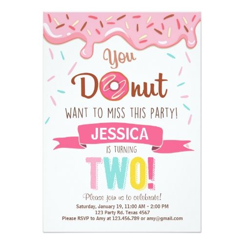 Donut Birthday Party Donut Birthday Party Invitation doughnut Party