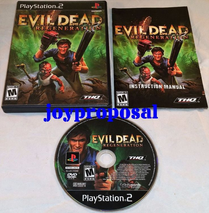PS2 Evil Dead Regeneration COMPLETE Playstation 2 3 PS3 Action Adventure Game