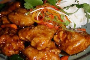 Chinese Bourbon Chicken with Soy Sauce and Ginger