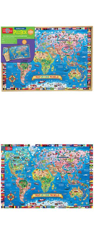 Puzzles 145934: T.S. Shure 500Pc Map Of The World Jumbo Puzzle -> BUY IT NOW ONLY: $37.99 on eBay!