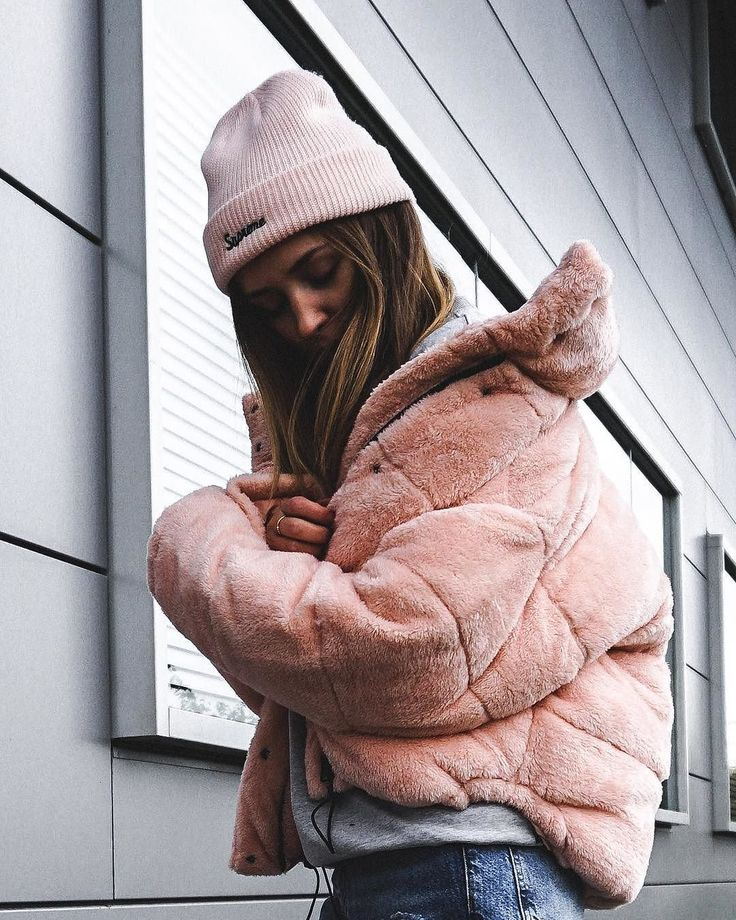 Light Before Dark Pink Teddy Puffer Jacket | Urban Outfitters | Women's | Coats & Jackets via @paladess #UOEurope #UrbanOutfittersEU #UOonYou