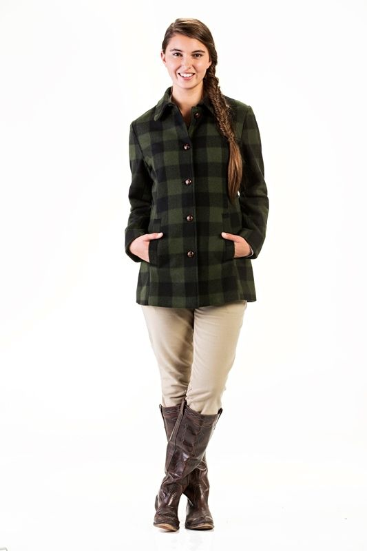 SALE $165.00 NZD RRP $329.95  This soft tailored coat is thigh length. It has button front closure, angle welt pockets and a tailored back with traditional button tab adjuster.  100% Wool Premium Finish 100% Cotton Herringbone Lining