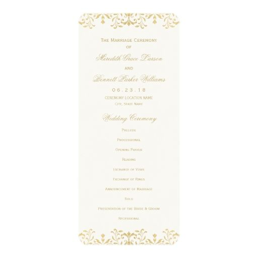 The 25+ best Wedding ceremony program template ideas on Pinterest - ceremony invitation template