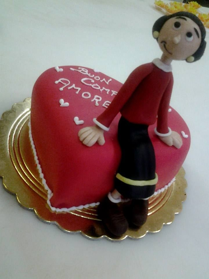 #cuore #torta della pasticceria La Mimosa di http://www.simocakedesigner.it