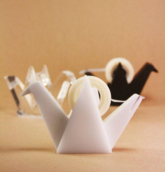 Ori-tsuru tape dispenser by iamiclover on Etsy