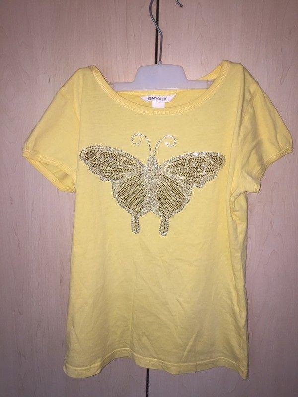 Żółta bluzka H&M XS/S polecam, tanio! świetny stan - vinted.pl