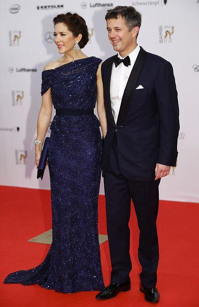 Dänisches Kronprinzenpaar: 13. November 2014 Prinzessin Mary und Prinz Frederik bringen royalen Glanz zur Bambi-Verleihung nach Berlin. Die dänische Kronprinzessin bekommt die Auszeichnung für ihr soziales Engagement verliehen.