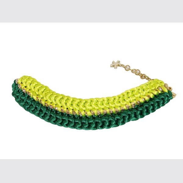 #whoswho #greenbird #abudhabi #abudhabistyle #abudhabifashion #dubai #dubaistyle #dubaifashion #marinamall #womenswear #casualwear #spring2014 #summer2014 #springsummer2014 #ss14 #accessories #bracelet #chunkybracelet #goldbracelet #limeandgold #bejeweled #bejeweledbracelet