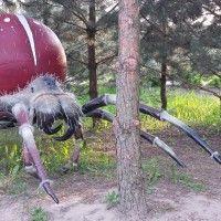 Gigantyczne owady na ulicy Pasikonika. Park Mikrokosmos w Ujazdowie.