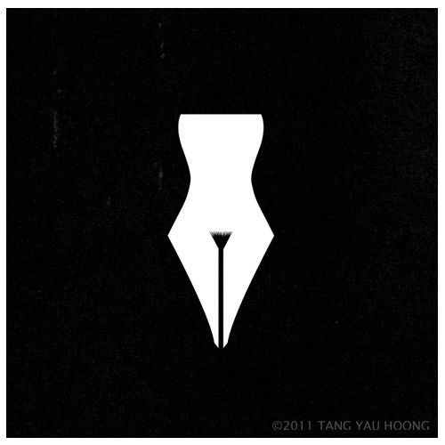 "GD Logo#6- ""Female Writers"" Logo. I appreciate how bold this logo is. I like the creativity with the double imagery. Like in everything else in the business world, it's better to be bold ladies!"