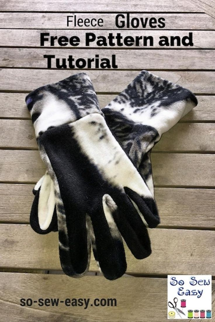 Free Sewing Pattern: Easy Gloves Pattern