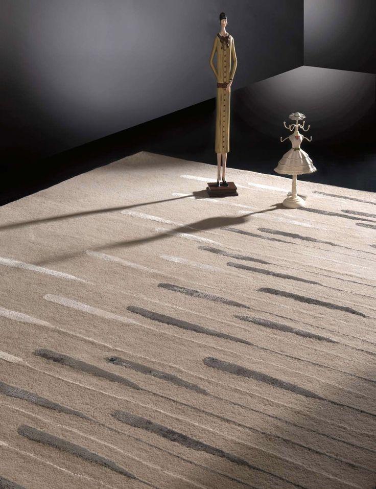 Alfombra moderna River Sand en Ámbar Muebles