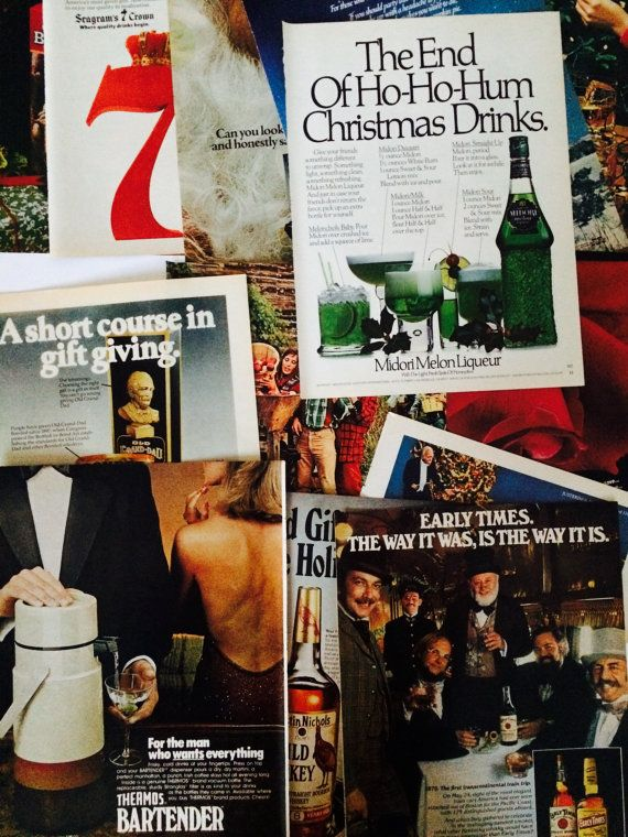 ▴△▴Vintage Christmas Ads Ephemera Pack • Santa Claus, Liquor, Sammy Davis Jr., Alka Seltzer Plop Plop Fizz Fizz • Playboy 1960s 1970s, Collectible Holiday Seasonal Xmas Winter, Scrapbooking Art Collage Supply • Advertisers Designers Creative Kit, Ready-To-Frame▴△▴ etsy ❍ etsy.com/shop/museum83 facebook ▷ facebook.com/museum83 twitter ❍ twitter.com/museum_83 pinterest ▷pinterest.com/museum83 #Bartender #ChristmasEphemera #Vintage1970sAdverts #SammyDavisJr #AlkaSeltzer #PlopPlopFizzFizz