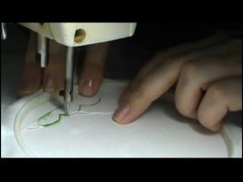 Машинная вышивка, швейная машинка. Вышивка на органзе и фатине - имитация кружева-макраме. - YouTube