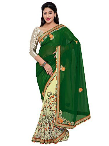 Indian Women green and off-white color georgette sari IND... http://www.amazon.in/dp/B01N7L45NY/ref=cm_sw_r_pi_dp_x_0A4Byb08B57WA