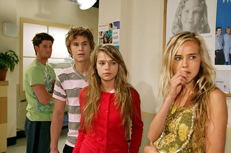 Paul O'Brien, Isabel Lucas, Indiana Evans, and Rhys Wakefield in Home and Away (1988)