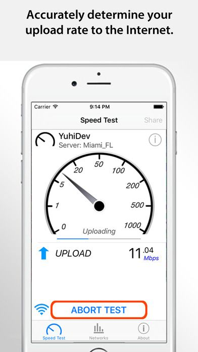 Speed Test Pro - Mobile Internet Performance Tool on App Store:   Speed Test Pro is a IT utility app to determine your TRUE Internet download upload and latency (response) or ping with one-tap ease. After the test...  Developer: Yuhi Dev  Download at http://ift.tt/1tiAYMP