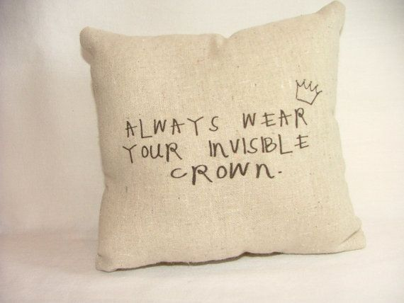Princess Invisible Crown Pillow by cayteelynn on Etsy, $14.95