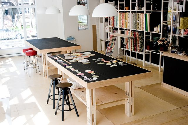 4x8 work table by Emeline & Annabelle, via Flickr