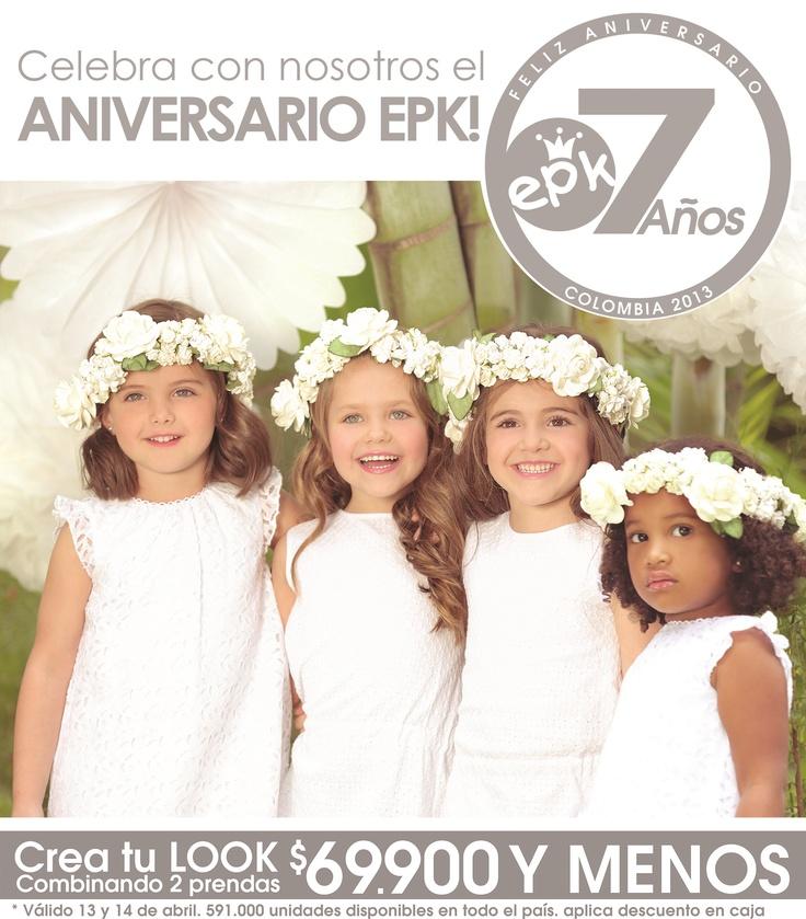 ¡EPK COLOMBIA está de ANIVERSARIOOO! Cumplimos 7 AÑOS ¿Qué mejor regalo que tu compañía para celebrarlo? Visita tu tienda EPK más cercana  y disfruta de la sorpresa que tenemos para ti.