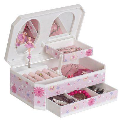 Mele & Co. Hayley Glittery Musical Ballerina Jewelry Box | Hayneedle